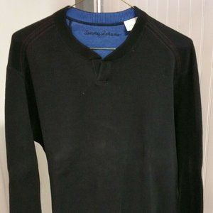TOMMY BAHAMA Crewneck Blue Black Reversible